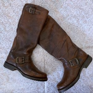 Frye Brown Leather Engineer Boots size 6